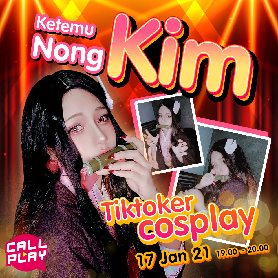 Ketemu Nong Kim Tiktoker cosplay